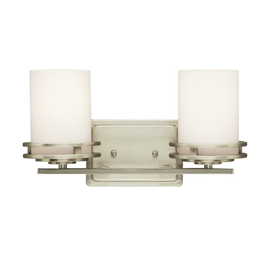 Kichler Vanity Lights Lowes : Shop Kichler Lighting 2-Light Hendrik Brushed Nickel Modern Vanity Light at Lowes.com