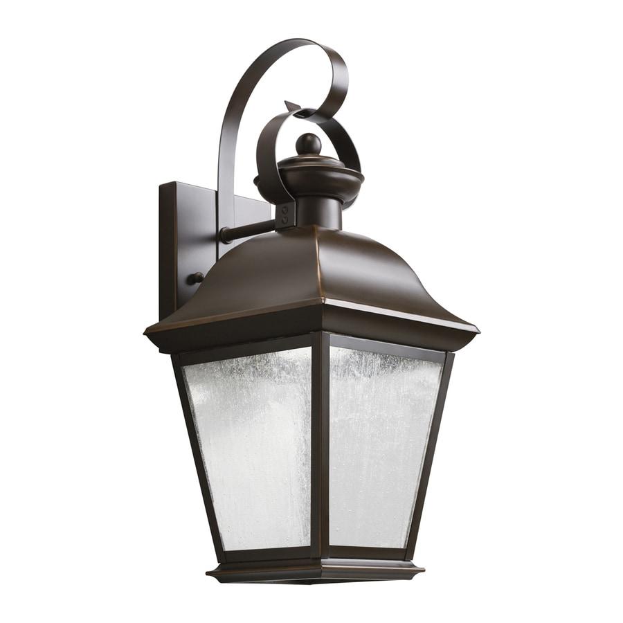Kichler Lighting Mount Vernon 16.75-in H LED Olde Bronze Outdoor Wall Light