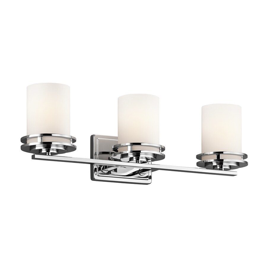 Kichler Lighting 3-Light Hendrik Chrome Modern Vanity Light
