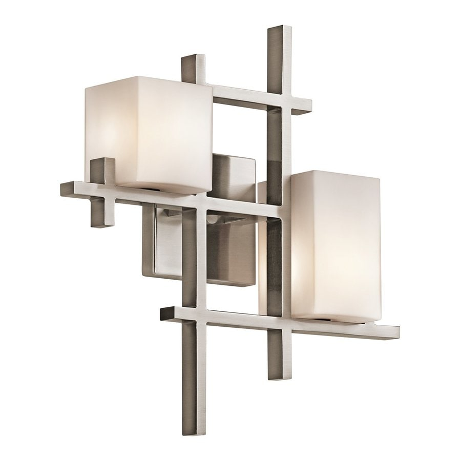 Kichler Lighting City Lights 15.5-in W 2-Light Classic Pewter Arm Wall Sconce