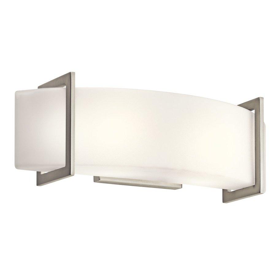 Shop Kichler Lighting 1-Light Crescent View Brushed Nickel Modern Vanity Light at Lowes.com