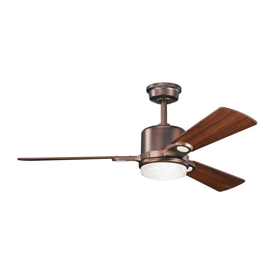 shop kichler lighting celino 48 in oil brushed bronze downrod mount indoor ceiling fan with. Black Bedroom Furniture Sets. Home Design Ideas