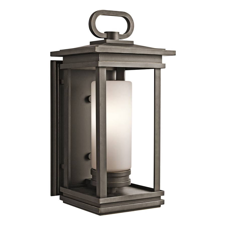 Kichler Lighting South Hope 19.75-in H Rubbed Bronze Outdoor Wall Light