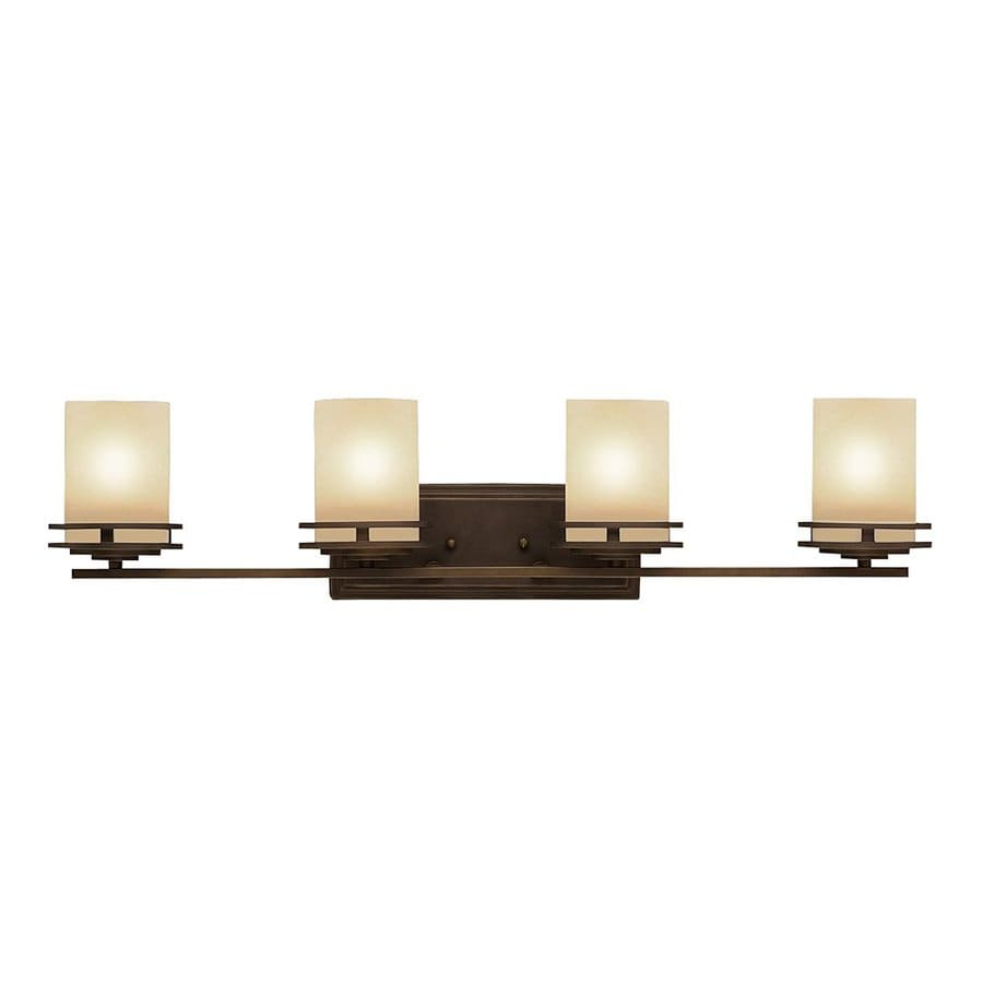 Kichler Vanity Lights Lowes : Shop Kichler Lighting 4-Light Hendrik Olde Bronze Modern Vanity Light at Lowes.com