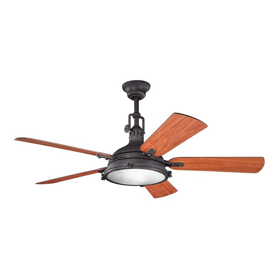 or close mount indoor ceiling fan with light kit and remote 5 blade. Black Bedroom Furniture Sets. Home Design Ideas