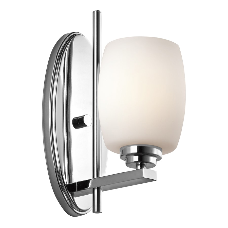 Kichler Bathroom Wall Sconces : Shop Kichler Lighting 1-Light Eileen Chrome Modern Vanity Light at Lowes.com