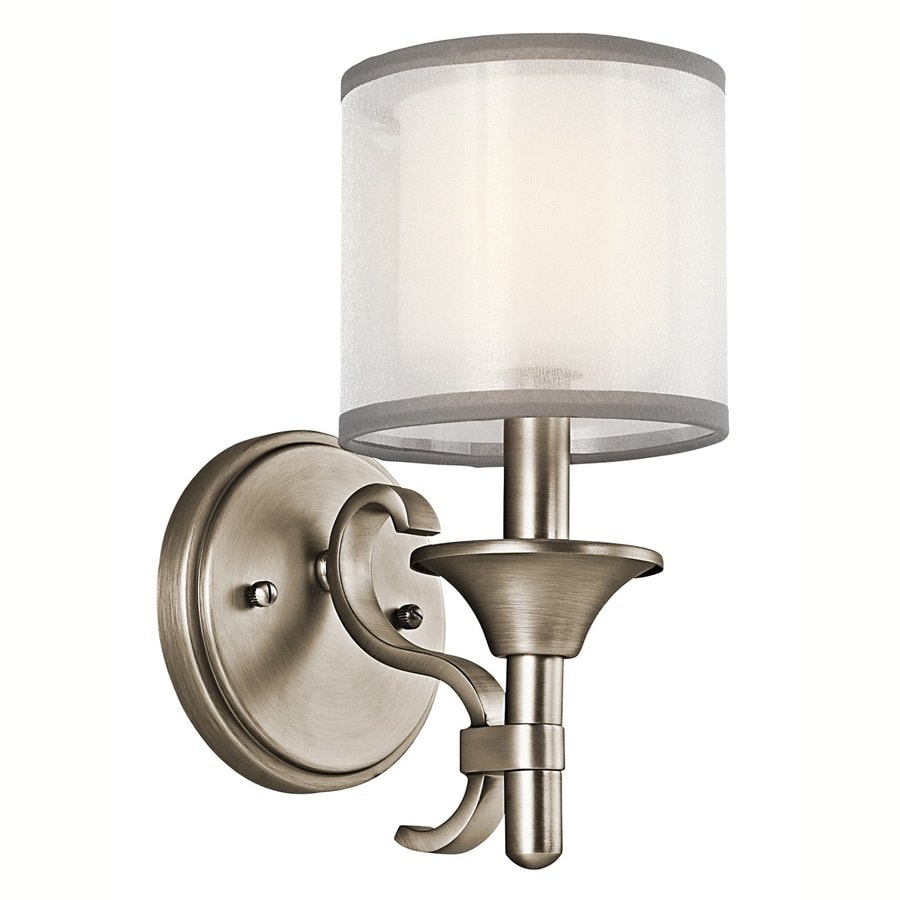 Shop kichler lighting 1 light lacey antique pewter for Old bathroom light fixtures