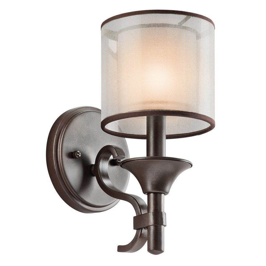 Kichler Vanity Lights Lowes : Shop Kichler Lighting 1-Light Lacey Mission Bronze Bathroom Vanity Light at Lowes.com