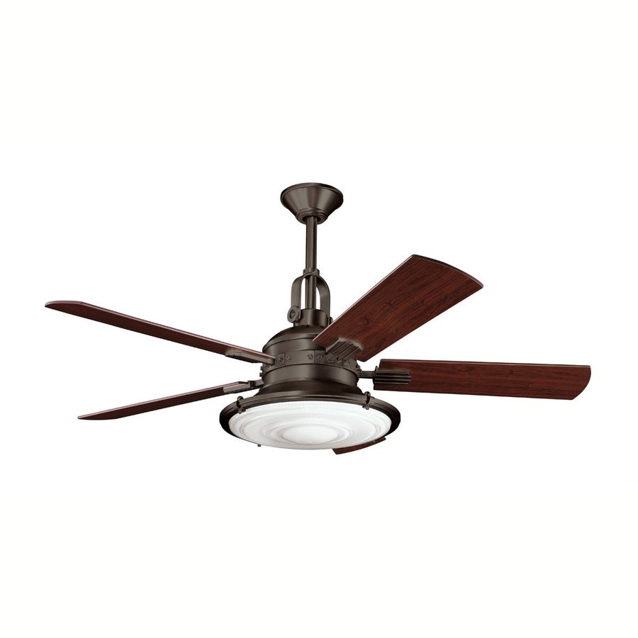 Kichler Lighting Kittery Point 52-in Olde Bronze Downrod Mount Indoor Ceiling Fan with Light Kit and Remote (5-Blade)