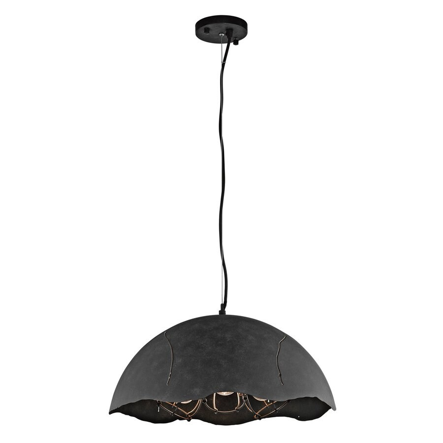 Kichler Lighting Fracture 19.5-in Weathered Zinc Industrial Hardwired Mini Dome Pendant