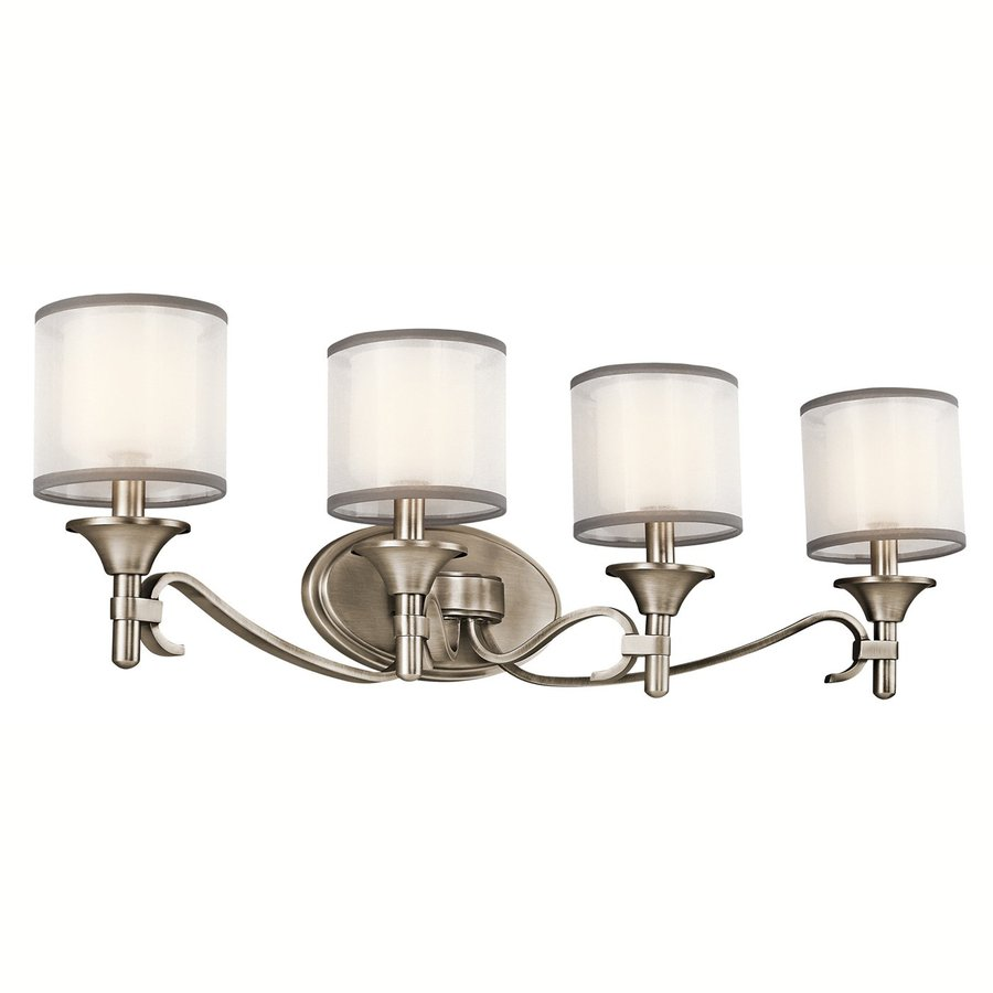 Kichler Vanity Lights Lowes : Shop Kichler Lighting 4-Light Lacey Antique Pewter Transitional Vanity Light at Lowes.com