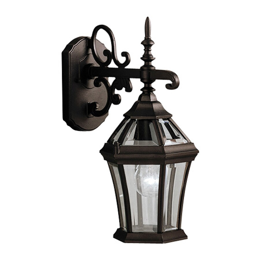 Kichler Lighting Townhouse 15.25-in H Black Outdoor Wall Light