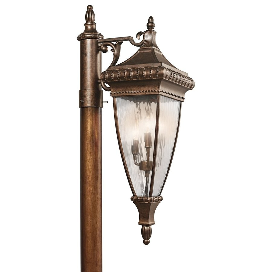 Kichler Lighting Venetian Rain 32.5-in H Bronze Post Light