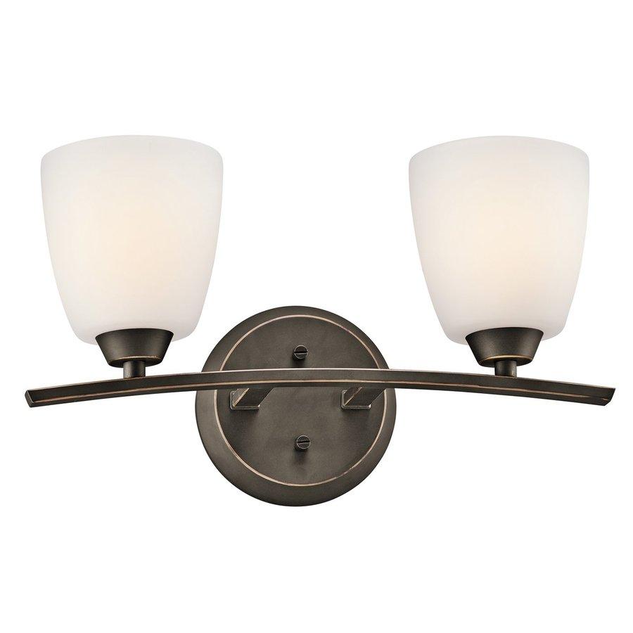 Kichler Lighting 2-Light Granby Olde Bronze Transitional Vanity Light