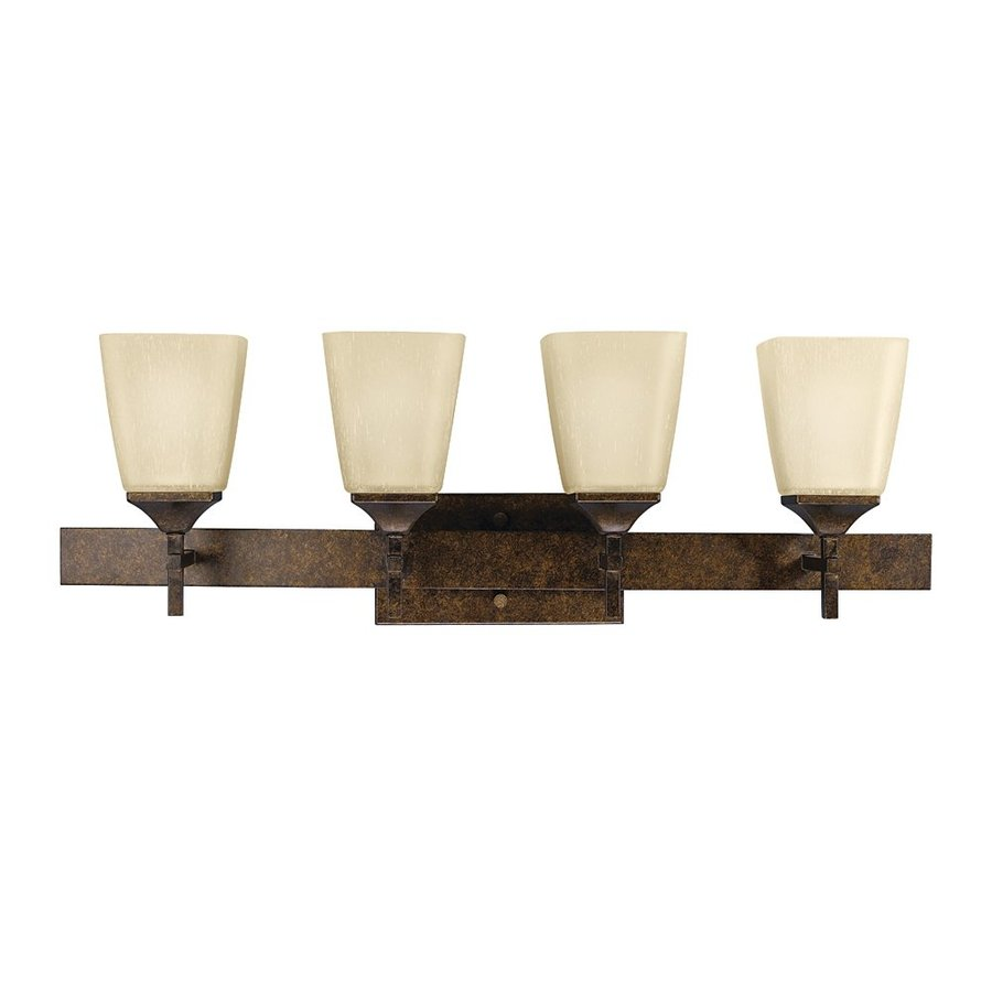 Kichler Vanity Lights Lowes : Shop Kichler Lighting 4-Light Souldern Marbled Bronze Bathroom Vanity Light at Lowes.com