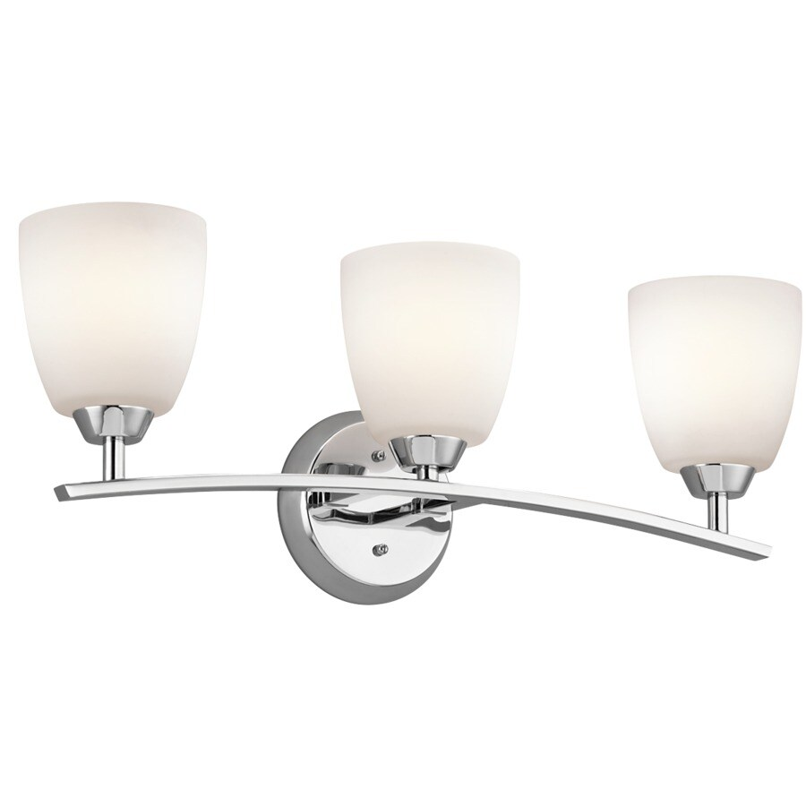 Kichler Lighting 3-Light Granby Chrome Transitional Vanity Light