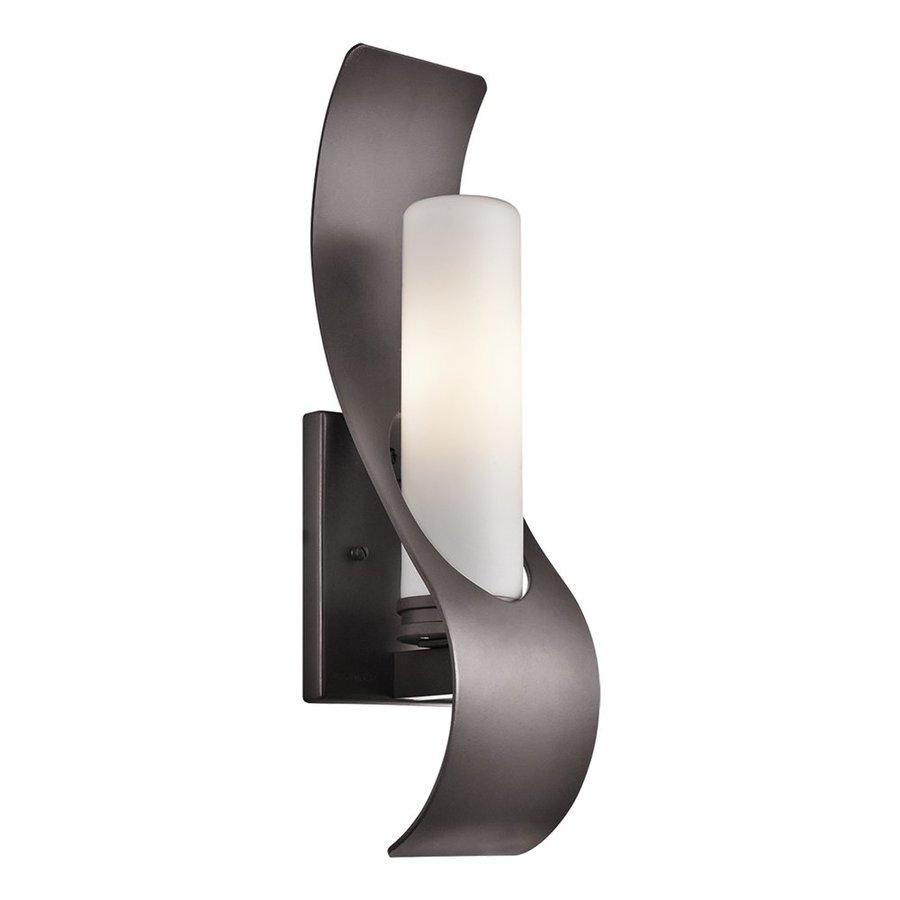 Kichler Lighting Zolder 17-in H Architectural Bronze Halogen Outdoor Wall Light