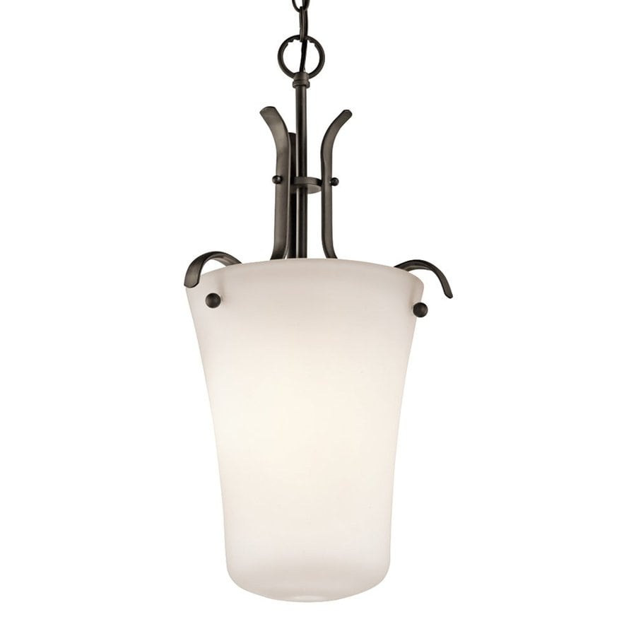 Kichler Lighting Armida 12.75-in W Olde Bronze Pendant Light with White Shade ENERGY STAR