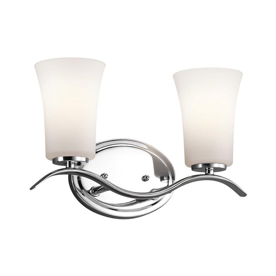 Kichler Lighting 2-Light Armida Chrome Transitional Vanity Light
