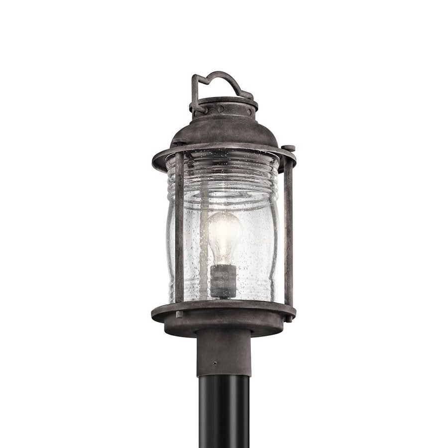 Kichler Lighting Ashland Bay 19-in H Weathered Zinc Post Light