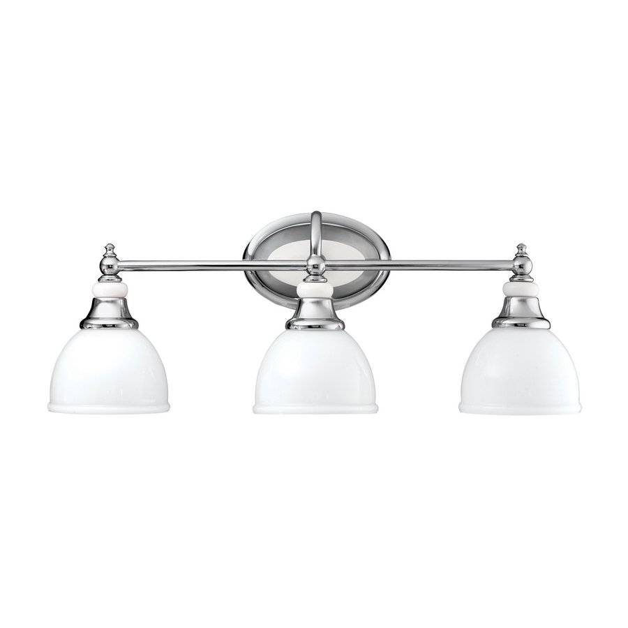 Kichler Vanity Lights Lowes : Shop Kichler Lighting 3-Light Pocelona Chrome Transitional Vanity Light at Lowes.com