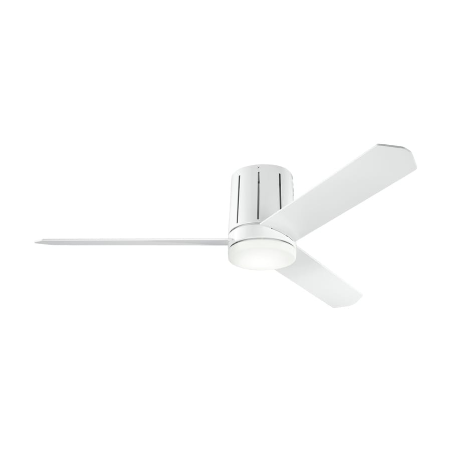 Kichler Lighting Innes 52-in White Flush Mount Indoor Ceiling Fan with Light Kit and Remote (3-Blade)