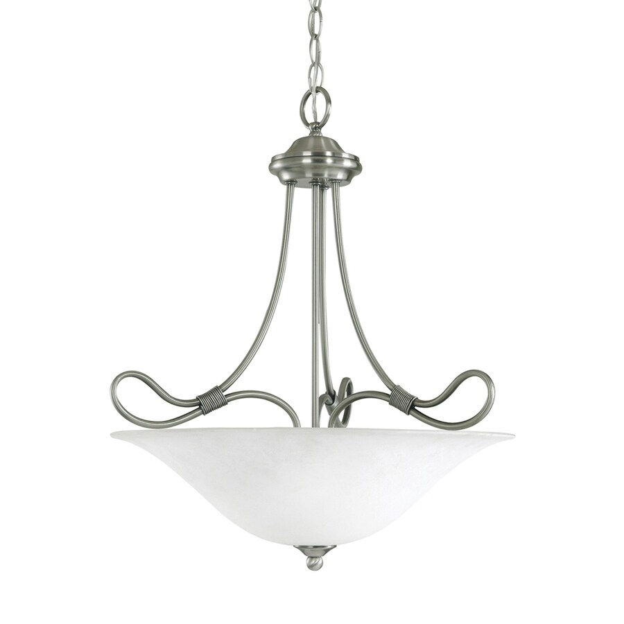 Kichler Lighting Stafford 18.5-in Antique Pewter Country Cottage Hardwired Single Bowl Pendant