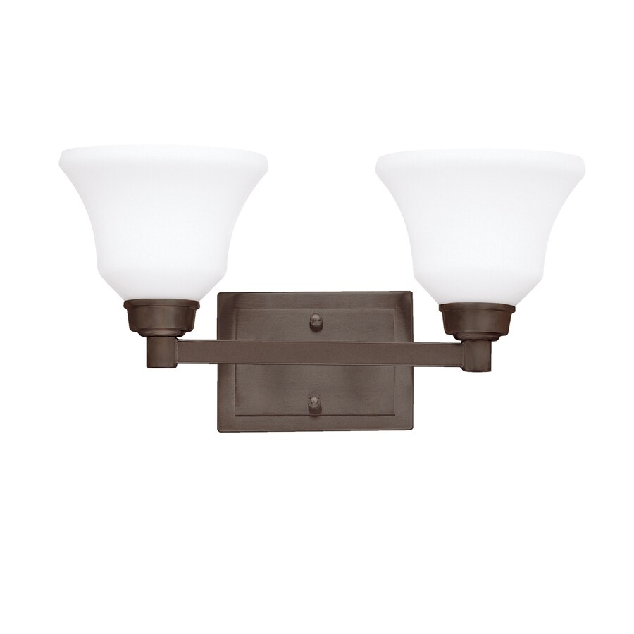 Kichler Lighting 2-Light Langford Olde Bronze Transitional Vanity Light