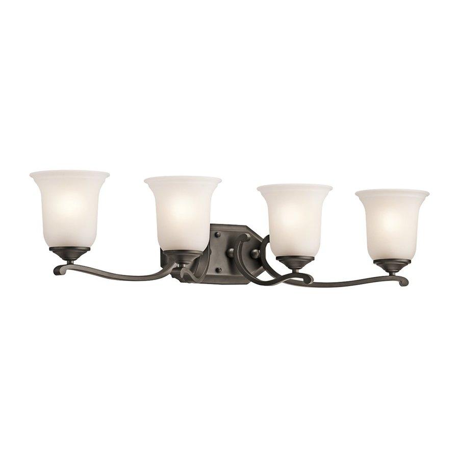 Kichler Lighting 4-Light Wellington Square Olde Bronze Traditional Vanity Light