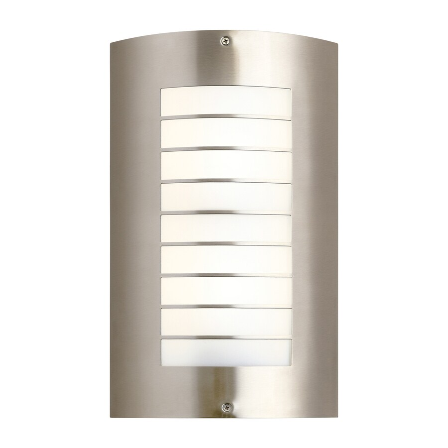 Kichler Lighting Newport 15.25-in H Fluorescent Brushed Nickel Outdoor Wall Light