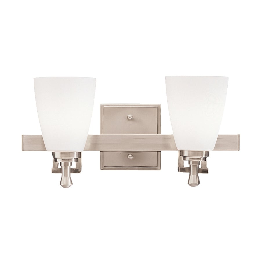 Kichler Vanity Lights Lowes : Shop Kichler Lighting 2-Light Uptown Brushed Nickel Modern Vanity Light at Lowes.com