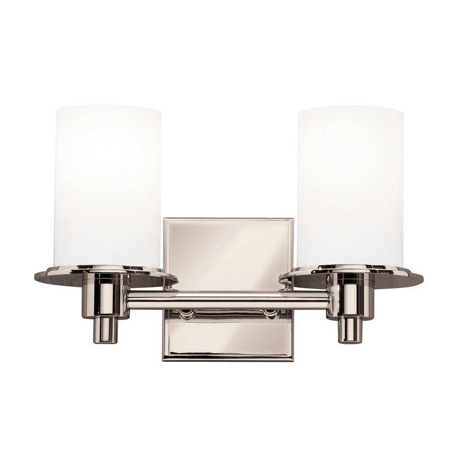 Kichler Lighting 2-Light Cylinders Polished Nickel Modern Vanity Light