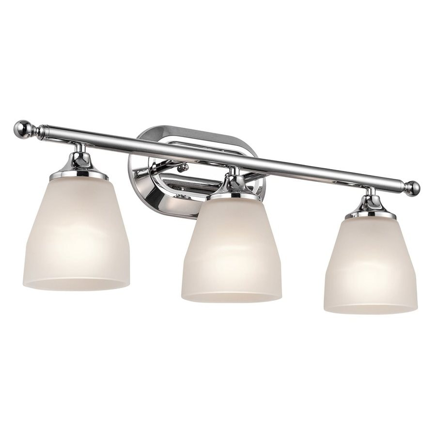 Shop Kichler Lighting 3 Light Ansonia Chrome Modern Vanity
