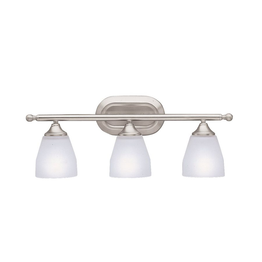 Kichler Lighting 3-Light Ansonia Brushed Nickel Modern Vanity Light