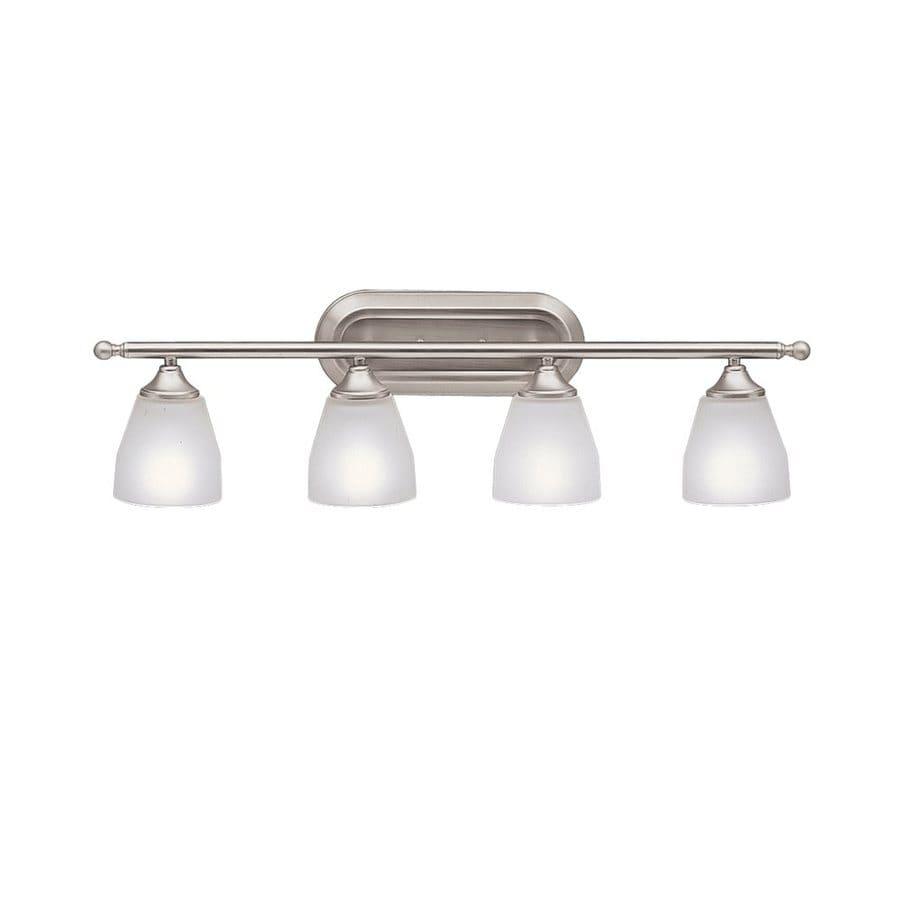 Shop Kichler Lighting 4-Light Ansonia Brushed Nickel Modern Vanity Light at Lowes.com