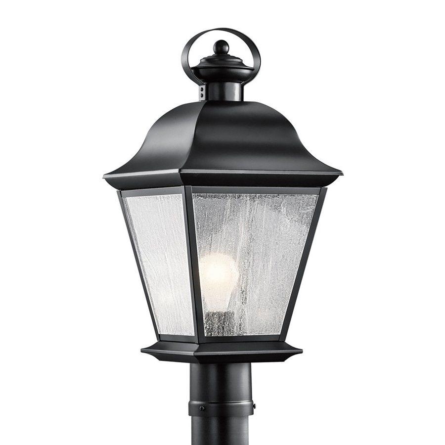 Kichler Lighting Mount Vernon 20.75-in H Black Post Light