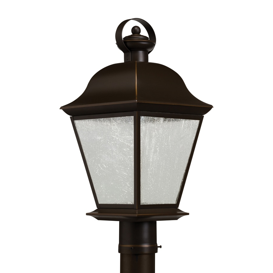 Kichler Lighting Mount Vernon 20.75-in H Olde Bronze Integrated Led Post Light