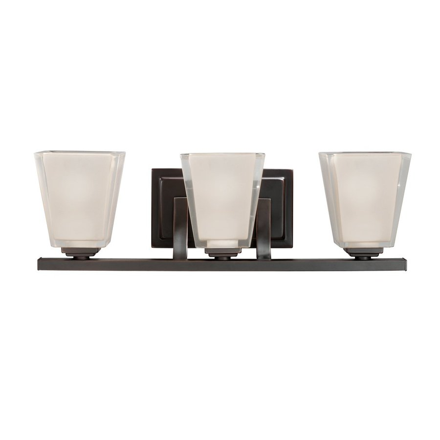 Kichler Vanity Lights Lowes : Shop Kichler Lighting 3-Light Urban Ice Olde Bronze Modern Vanity Light at Lowes.com