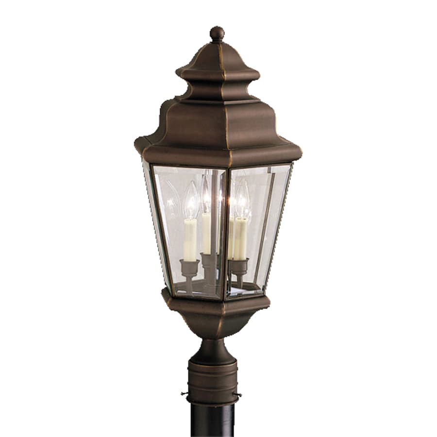 Kichler Lighting Savannah Estate 25-in H Olde Bronze Post Light