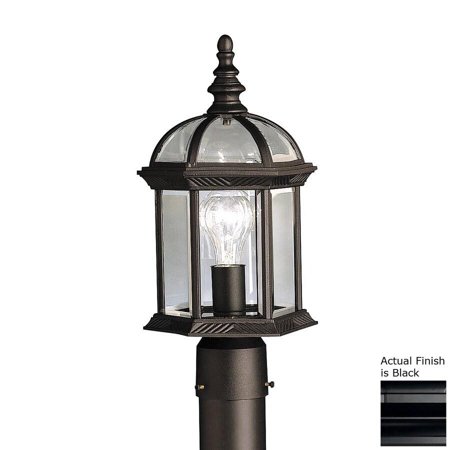 Kichler Lighting New Street 16-in H Black Post Light