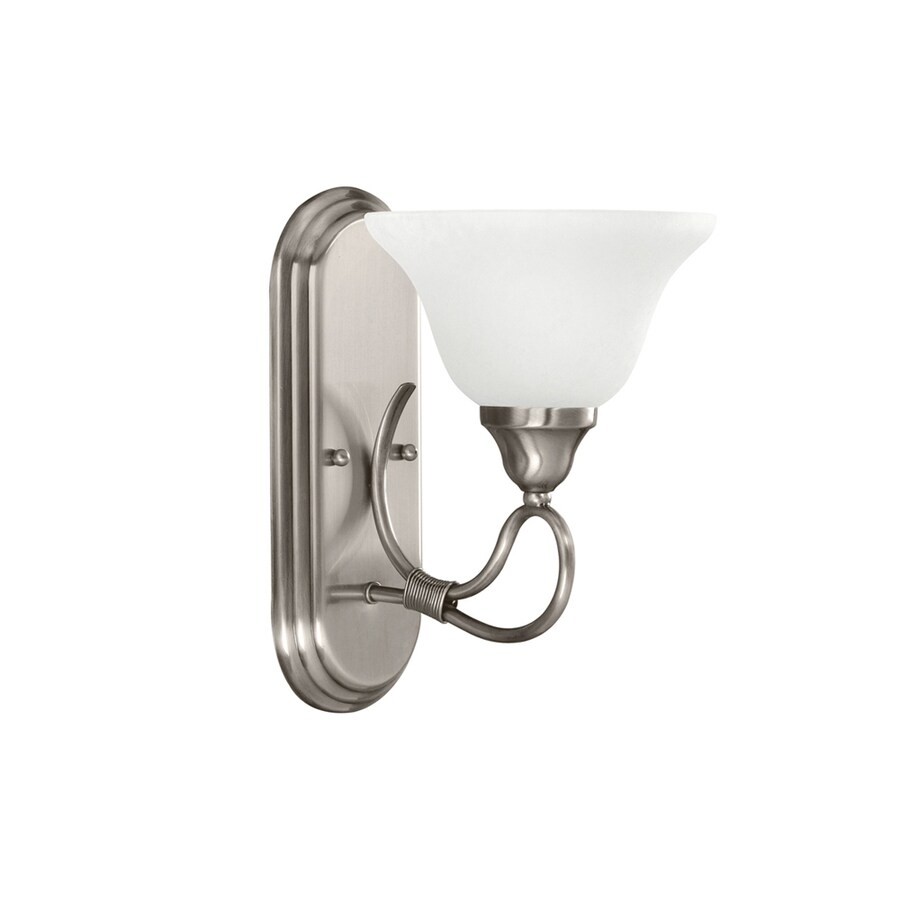 Kichler Lighting 1-Light Stafford Antique Pewter Bathroom Vanity Light