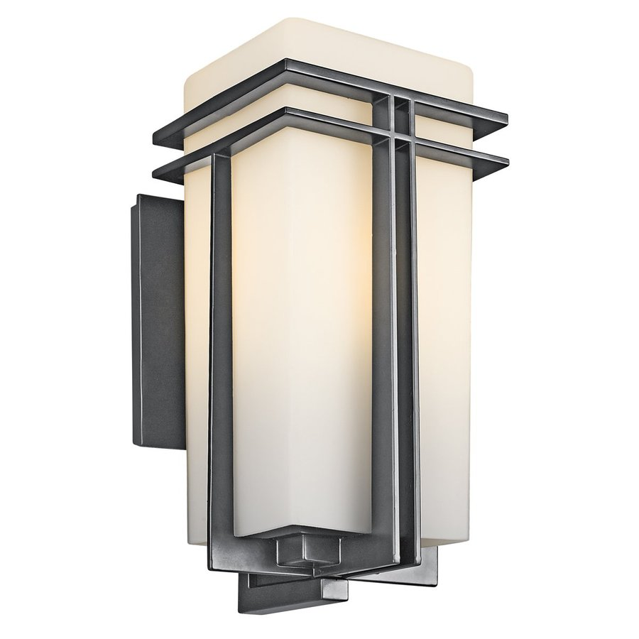 Kichler Lighting Tremillo 17.25-in H Black Outdoor Wall Light