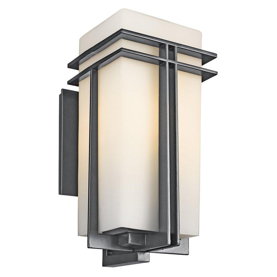 Kichler Lighting Tremillo 20.25-in H Black Fluorescent Outdoor Wall Light