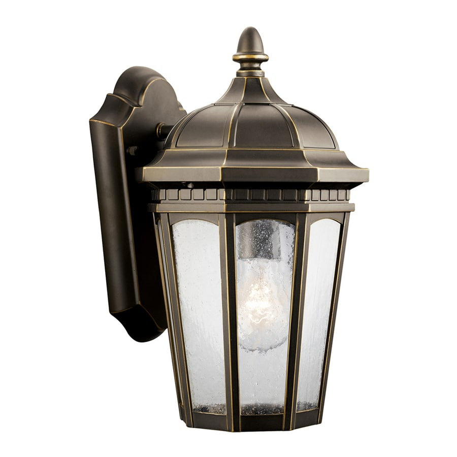 Kichler Lighting Courtyard 11-in H Rubbed Bronze Outdoor Wall Light