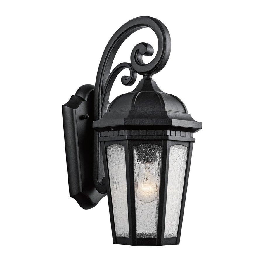 Kichler Lighting Courtyard 17.75-in H Textured Black Outdoor Wall Light