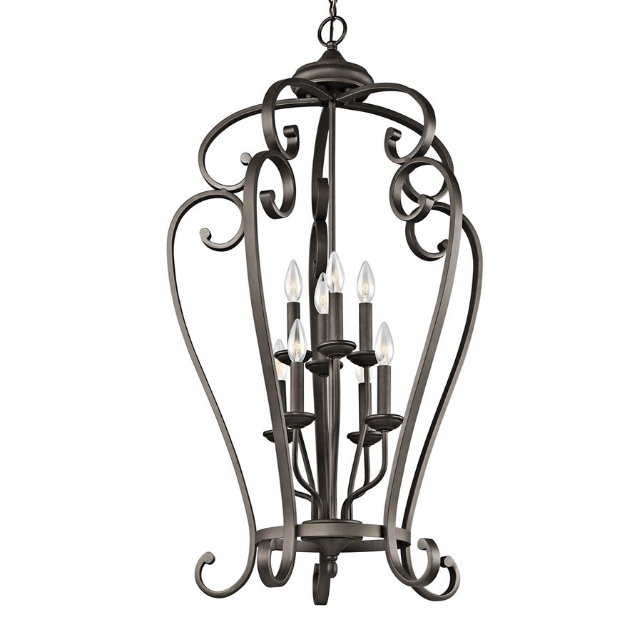 Kichler Lighting Monroe 23-in Olde Bronze Country Cottage Hardwired Single Cage Pendant