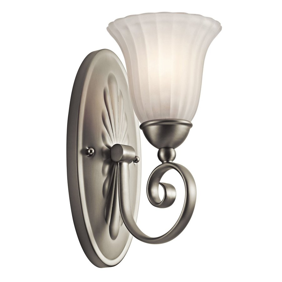 Shop Kichler Lighting 1 Light Willowmore Brushed Nickel Bathroom Vanity Light