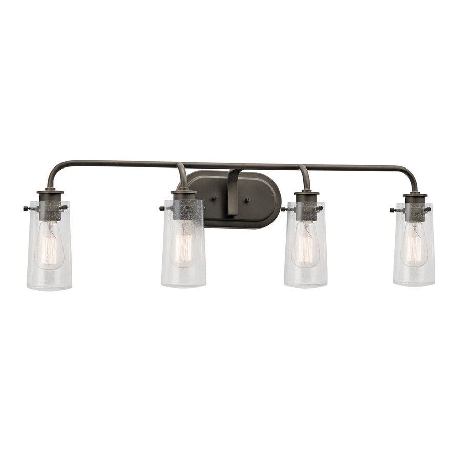 Kichler Vanity Lights Lowes : Shop Kichler Lighting 4-Light Braelyn Olde Bronze Traditional Vanity Light at Lowes.com