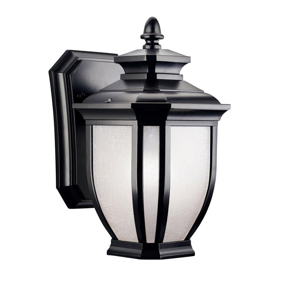 Kichler Lighting Salisbury 10.5-in H Black Outdoor Wall Light
