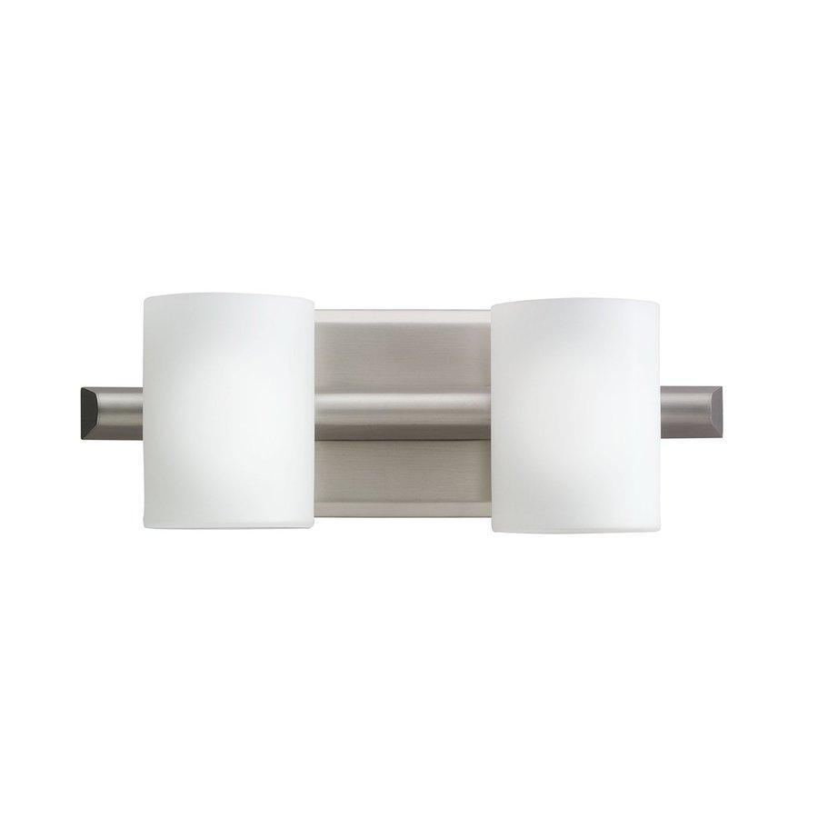 Kichler Lighting 2-Light Tubes Brushed Nickel Modern Vanity Light